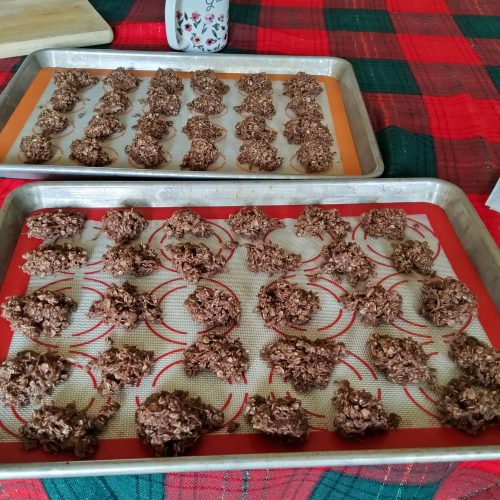 Finished Chocolate Drop Cookies